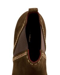 Isabel Marant | Natural Lars Flat Suede Boots | Lyst