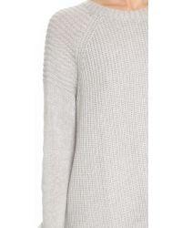 Autumn Cashmere - Gray Oversize Moto Crew Neck Sweater - Lyst