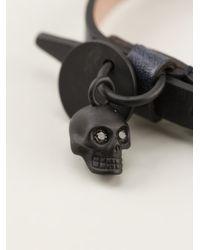 Alexander McQueen - Black Skull Charm Bracelet for Men - Lyst