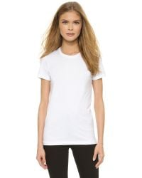 Acne | White Bliss C Tee | Lyst