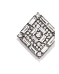 Forever 21 | Metallic Rhinestone Diamond-shaped Studs | Lyst