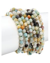 Kenneth Jay Lane | Multicolor Beaded Eight-row Bracelet | Lyst