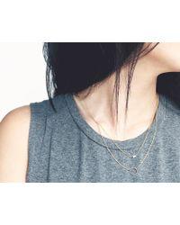 Vrai & Oro | Yellow Circle 14-Karat Gold Necklace | Lyst