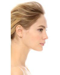 Michael Kors - Metallic Pave Small Semi Hoop Earrings - Lyst