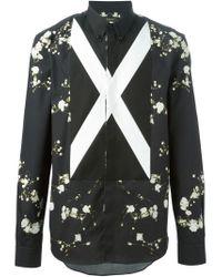Givenchy | Black Gypsophila Print Shirt for Men | Lyst