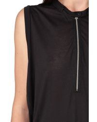 G-Star RAW - Black Sleeveless Top - Lyst
