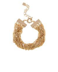 Coast | Metallic Carmela Plaited Bracelet | Lyst