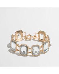 J.Crew - Metallic Factory Crystal Pillow Bracelet - Lyst