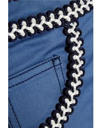 Alessandra Rich | Blue Passementerie-Trimmed High-Rise Slim-Leg Jeans | Lyst