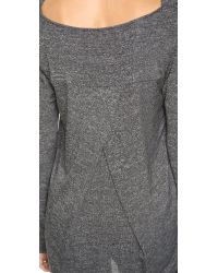 Splendid | Gray Marble Jersey Drape Neck Top | Lyst