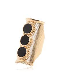 Chloé - Black Djill Onyx & Gold Plated Brass Ring - Lyst