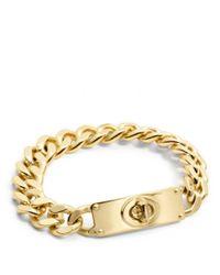 COACH | Metallic Curbchain Turnlock Bracelet | Lyst