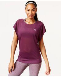 PUMA - Purple Burnout T-shirt - Lyst