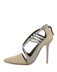 L.A.M.B. - Multicolor Boston Strappy Perforated Pump - Lyst