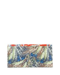 Valentino - Multicolor Mime Floral-print Leather Clutch Bag - Lyst