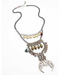 Free People - Metallic Rio Statement Necklace - Lyst
