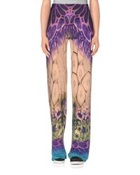 Alberta Ferretti - Purple Casual Trouser - Lyst