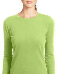 Lauren by Ralph Lauren | Green Long-sleeved Pique Top | Lyst