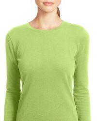 Lauren by Ralph Lauren | Green Long-sleeved Pique Top | Lyst