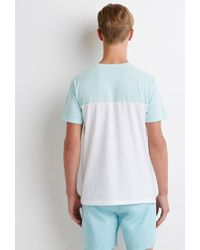 Forever 21 - Blue Colorblocked Pocket Tee for Men - Lyst