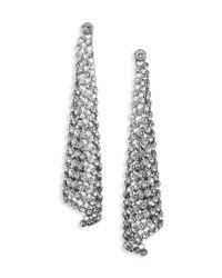 Michael Kors | Metallic Park Avenue Glam Pavé Mesh Triangle Drop Earrings | Lyst