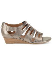 Söfft | Gray Ilana Wedge Sandals | Lyst