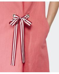 Paul by Paul Smith | Pink Tie Front Linen Dress | Lyst