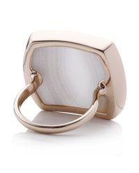 Monica Vinader | Pink Baja Square Ring | Lyst