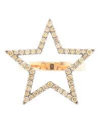 Rosa De La Cruz   Metallic Diamond Star Ring   Lyst