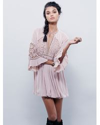 Free People | Pink Womens Wildest Dreams Lace Tunic | Lyst