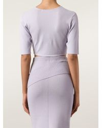 Dion Lee - Purple Cropped Knit Top - Lyst