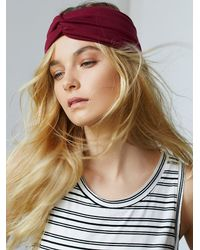 Free People | Purple Womens Soft Turban Headband | Lyst