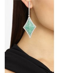 Ana Khouri - Green Velvet Star 18karat White Gold Amazonite and Diamond Earrings - Lyst