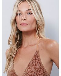 Free People - Brown Phases Of The Moon Velvet Bra - Lyst
