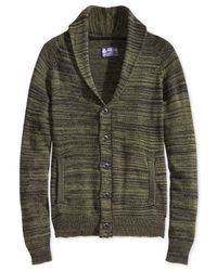 American Rag | Green Feeder Cardigan for Men | Lyst