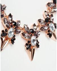 Ted Baker - Metallic Jewelled Arrow Necklace - Lyst