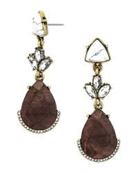 BaubleBar | Metallic 'gaia' Drop Earrings - Antique Gold | Lyst