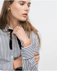 Zara | Black Basic Poplin Shirt | Lyst