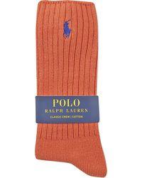 Ralph Lauren | Orange Classic Casual Socks for Men | Lyst