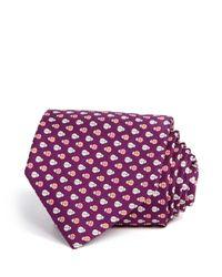 Ferragamo | Purple Lady Bug Classic Tie for Men | Lyst