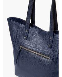 Mango - Blue Pebbled Shopper Bag - Lyst