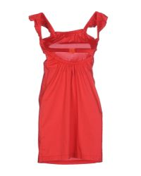 CoSTUME NATIONAL - Red Short Dress - Lyst