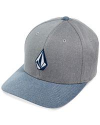 Volcom - Blue Full Stone Embroidered Logo Hat for Men - Lyst
