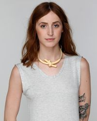 Need Supply Co. | Metallic Madelaine Necklace In Peach | Lyst