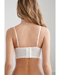 Forever 21 - White Contrast Lace Corset Bra - Lyst