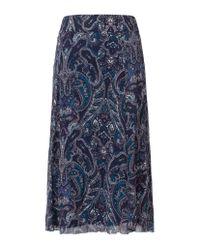Olsen - Blue Paisley Print Skirt - Lyst