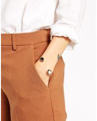 ASOS | Metallic Ethnic Open Cuff Bracelet | Lyst
