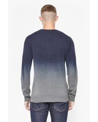 French Connection | Blue Dip Dye Cashmere Jumper for Men | Lyst