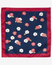 Ted Baker - Blue Floral Print Pocket Square for Men - Lyst