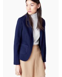 Mango - Blue Soft Fabric Blazer - Lyst